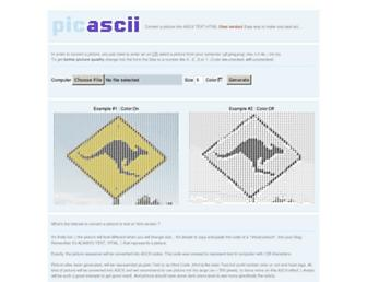 picascii.com screenshot