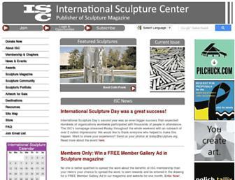 Main page screenshot of sculpture.org