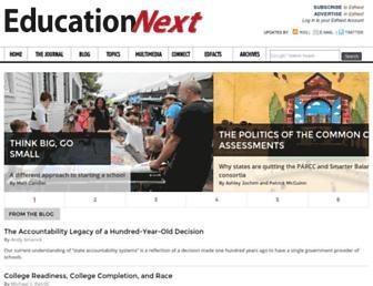 Fullscreen thumbnail of educationnext.org