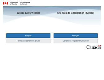 laws.justice.gc.ca screenshot
