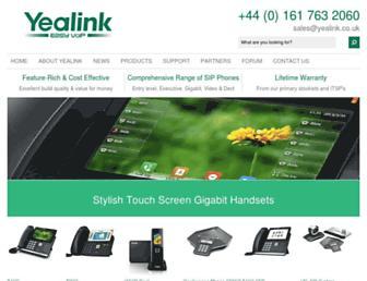 yealink.co.uk screenshot