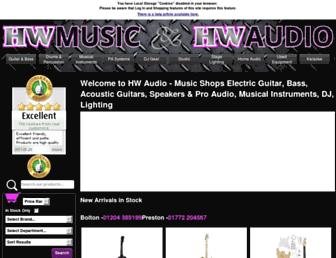 hwaudio.co.uk screenshot