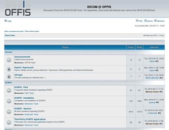 forum.dcmtk.org screenshot