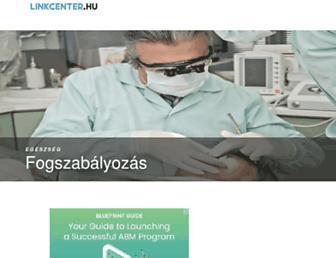 Main page screenshot of fejlesztojatek.linkcenter.hu