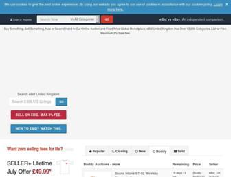 Main page screenshot of uk.ebid.net