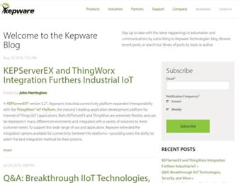 info.kepware.com screenshot