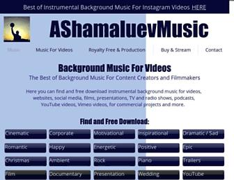 ashamaluevmusic.com screenshot