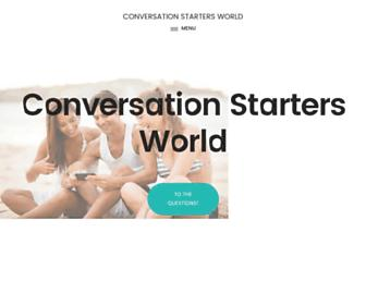 conversationstartersworld.com screenshot