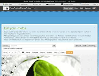 freeonlinephotoeditor.com screenshot