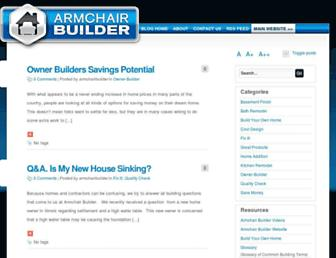 blog.armchairbuilder.com screenshot