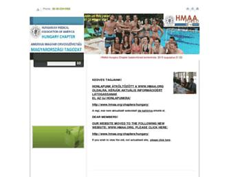 Main page screenshot of amosz.extra.hu