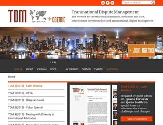 transnational-dispute-management.com screenshot