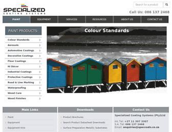 speccoats.co.za screenshot