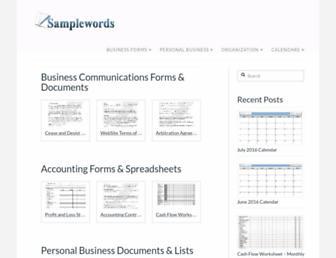 samplewords.com screenshot