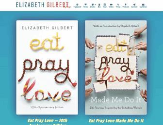 elizabethgilbert.com screenshot