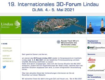 Main page screenshot of 3d-forum.li