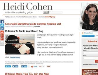 heidicohen.com screenshot