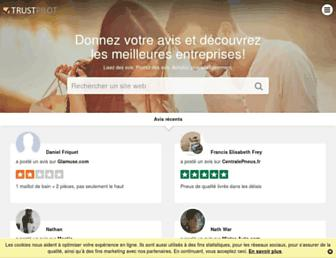 fr.trustpilot.com screenshot