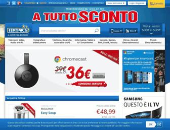 Main page screenshot of euronics.it