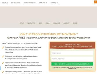 Thumbshot of Productivemuslim.com