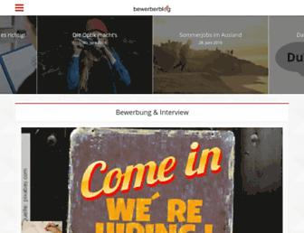 Main page screenshot of bewerberblog.de