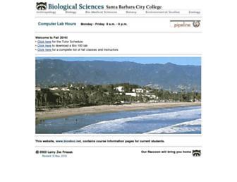 Main page screenshot of biosbcc.net