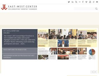 Main page screenshot of eastwestcenter.org