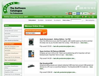 shop.mensys.nl screenshot
