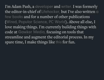 Thumbshot of Adampash.com
