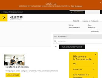 forum.videotron.com screenshot