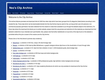 thecliparchive.com screenshot