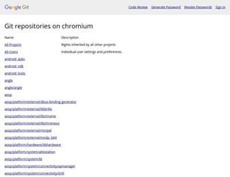 chromium.googlesource.com screenshot