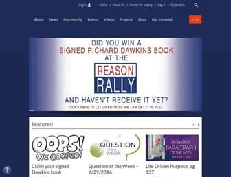 Main page screenshot of richarddawkins.net