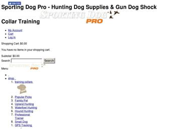 sportingdogpro.com screenshot