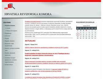 Main page screenshot of revizorska-komora.hr
