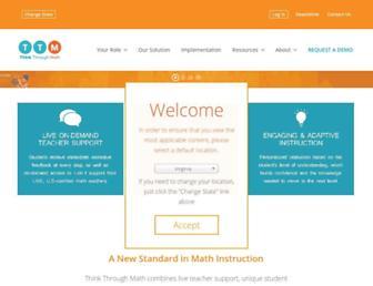 Thumbshot of Thinkthroughmath.com