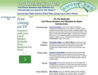 Main page screenshot of ontheradio.net