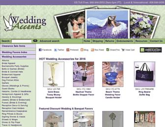 weddingaccents.com screenshot