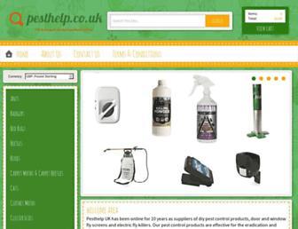pesthelp.co.uk screenshot