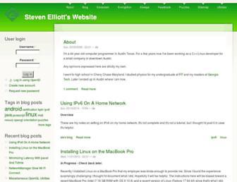 Main page screenshot of selliott.org