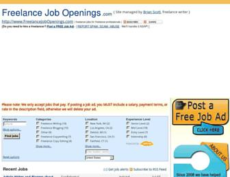 Thumbshot of Freelancejobopenings.com