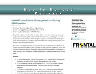 Main page screenshot of mobilemonday.dk
