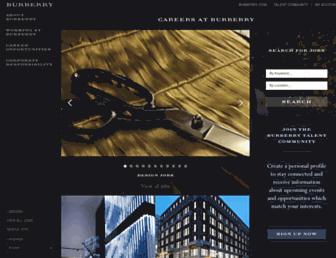 burberrycareers.com screenshot