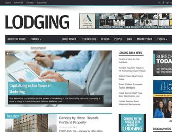 lodgingmagazine.com screenshot
