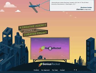 geniusrocket.com screenshot