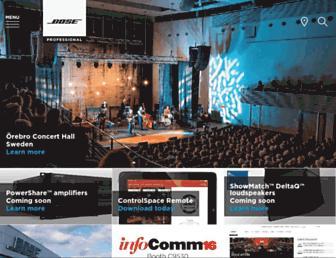 pro.bose.com screenshot