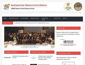 Main page screenshot of seatca.org