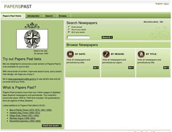 paperspast.natlib.govt.nz screenshot