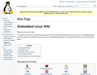 elinux.org screenshot