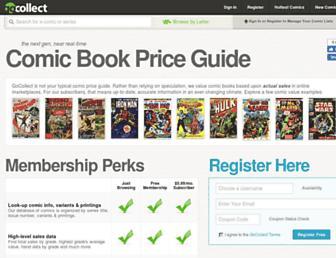 comics.gocollect.com screenshot